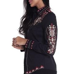 Camisa Tassa Gold Feminina Peto  Bordado 4065.1 ... a6130e21b1ce3