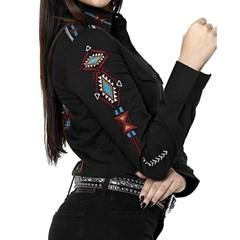 Camisa Tassa Gold Feminina Preto  Bordado 4109.1 ... 5bc4339842cb2