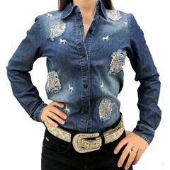 Camisa Tassa Jeans Destroyed Feminina 3933.1