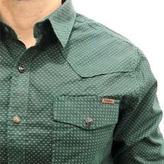 Camisa Tassa Verde/ Estampado 3978.1