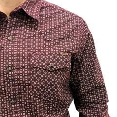 Camisa Tassa Vinho/ Estampado 3977.1