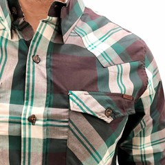 Camisa Tassa Xadrez Verde/Marrom 3920.1