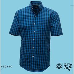 Camisa Tuff Xadrez Azul Royal/ Azul Marinho 1011C