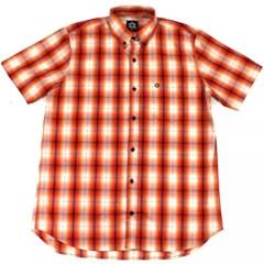 Camisa Tuff Xadrez Laranja/Listras Pretas SC-1337