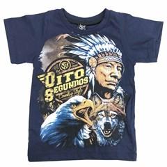 Camiseta 8 Segundos Infantil Azul Marinho/Estampado 3793