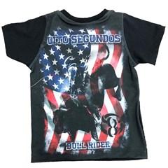 Camiseta 8 Segundos Infantil Preto/ Estampado 37100