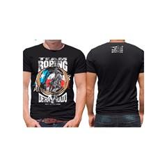 Camiseta Derramado Preto/Estampa DRRM-C05