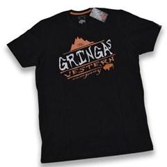 Camiseta Gringa'S Western Black Montain Preta