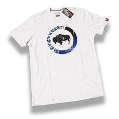 Camiseta Gringa'S Western Blue One Branca