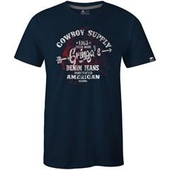 Camiseta Gringa'S Western Wear Azul Marinho/ Estampa 0419100