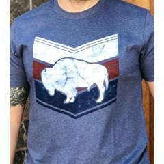 Camiseta Gringa'S Western Wear Azul Mescla/ Estampa 0419102