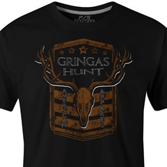 Camiseta Gringa'S Western Wear Black Hunt 8080