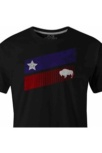 Camiseta Gringa'S Western Wear Black Texas Stripes 9010