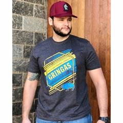Camiseta Gringa'S Western Wear Chumbo Mescla/ Estampa 0419108
