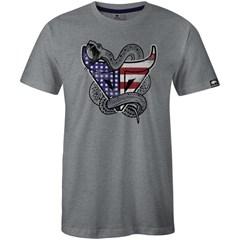 Camiseta Gringa'S Western Wear Cinza Mescla/ Estampa 0419106