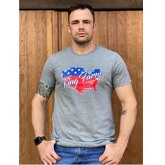 Camiseta King Farm Cinza Mescla GCM312