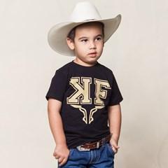 Camiseta King Farm Preto Infantil KFI88