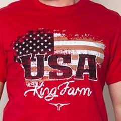 Camiseta King Farm Vermelho KF18