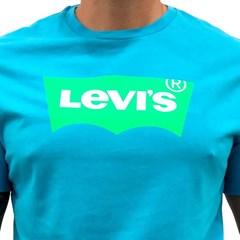 Camiseta Levi's Azul Claro/ Verde Limão 224890155