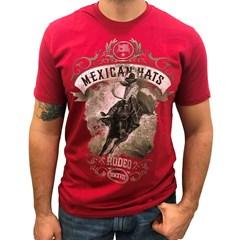 Camiseta Mexican Shirts American Saddle Vermelho