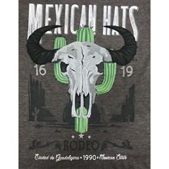 Camiseta Mexican Shirts Buffalo Marrom Mescla