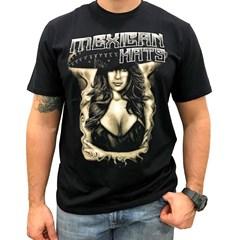 Camiseta Mexican Shirts Cabaret Dancer Preto