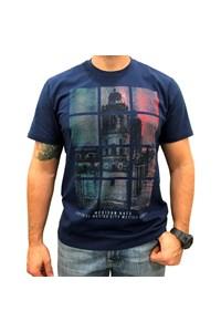 Camiseta Mexican Shirts Capital City Azul Marinho