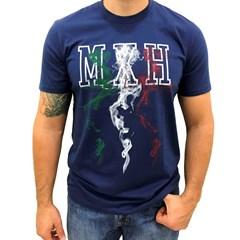Camiseta Mexican Shirts Fire Mexican Azul Marinho