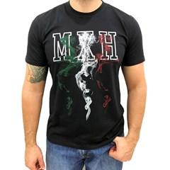 Camiseta Mexican Shirts Fire Mexican Preta