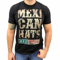 Camiseta Mexican Shirts Rustic Mexican Preta