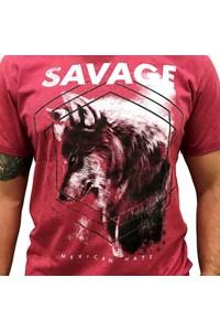 Camiseta Mexican Shirts Savage Vermelho Queimado