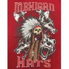 Camiseta Mexican Shirts Skull Hunter Vermelho