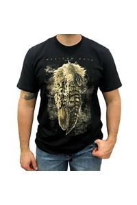 Camiseta Mexican Shirts Three Feathers Preto