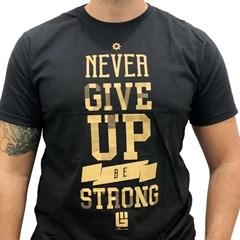 Camiseta Never Give Up Preto/ Estampa NGU-C22