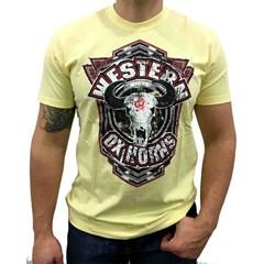 Camiseta Ox Horns Amarelo/Estampa 1003