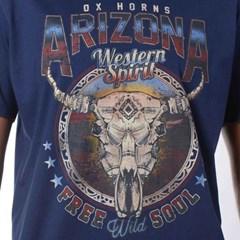Camiseta Ox Horns Azul/Estampa 1090