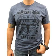 Camiseta Ox Horns Azul Mescla/ Estampa 1181