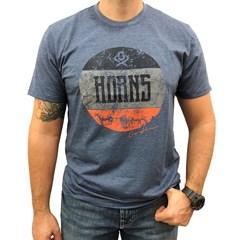 Camiseta Ox Horns Azul Mescla/ Estampa 1183