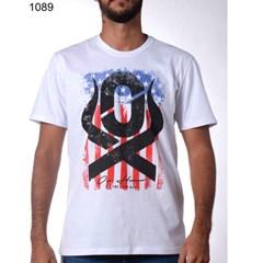 Camiseta Ox Horns Branca/Estampa 1089