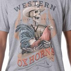 Camiseta Ox Horns Cinza Mescla/Estampa 1083