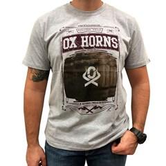 Camiseta Ox Horns Cinza Mescla/ Estampa 1187