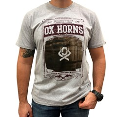 Camiseta Ox Horns Cinza Mescla/ Estampa 1187