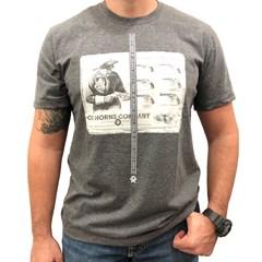 Camiseta Ox Horns Cinza Mescla/ Estampa 1196