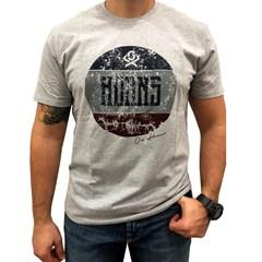 Camiseta Ox Horns Cinza Mescla/ Estampa 1207