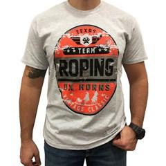 Camiseta Ox Horns Mescla Gelo/ Estampa 1191