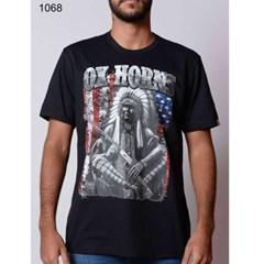 Camiseta Ox Horns Preta/Estampa 1068