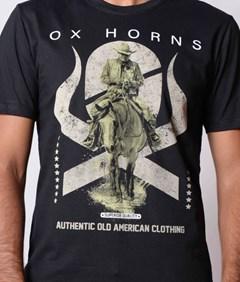 Camiseta Ox Horns Preto/Estampa 1094