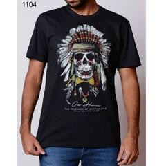 Camiseta Ox Horns Preto/Estampa 1104