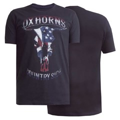 Camiseta Ox Horns Preto/ Estampa 1112