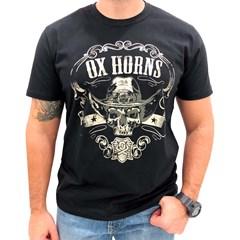 Camiseta Ox Horns Preto/ Estampa 1154